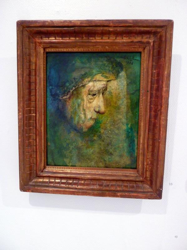 Unto Koistinen - Green Selfportrait - Olieverf