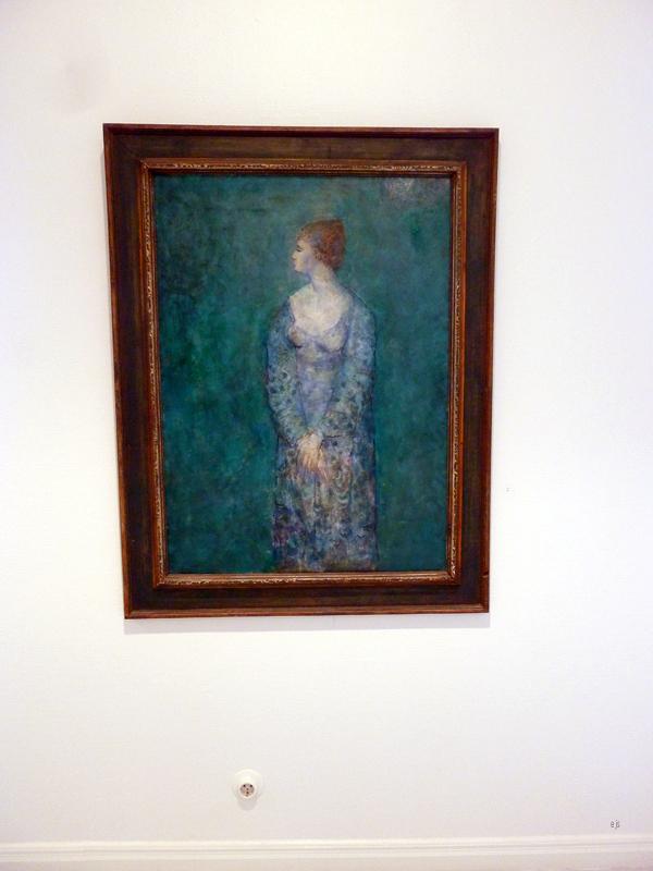 Unto Koistinen - Blue Girl - Olieverf