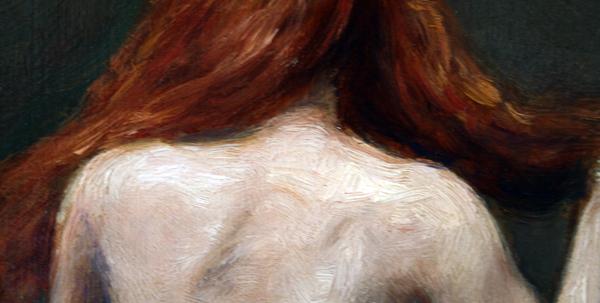 Cornelis le Mair - Naaktstudie rug (detail)