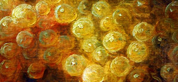 Cornelis le Mair - Stilleven met druiven (detail)