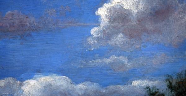 Cornelis le Mair - Vergezicht bij Drunen (detail)