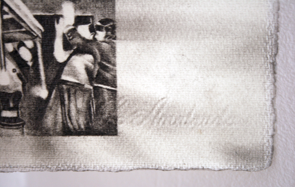 Andreas Albrectsen - Untitled - 50x70cm Graftiet op papier (detail)