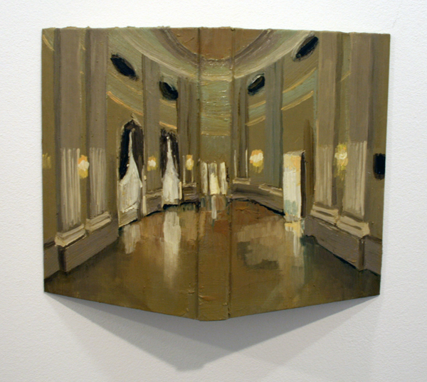 Aukje Koks - De Spiegelzaal - 40x30cm Olieverf op boek