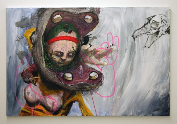 Dave de Leeuw - Onbekende titel - Acrylverf op doek