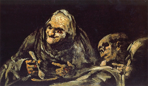 Goya - Black Painting (Two Old Men Eating Soup)