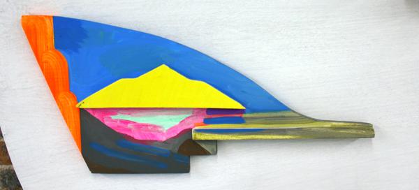 Jacqueline van den Bos - Op weg - Acrylverf op hout