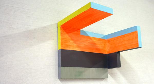 Jacqueline van den Bos - Trappenhuis - Acrylverf op hout
