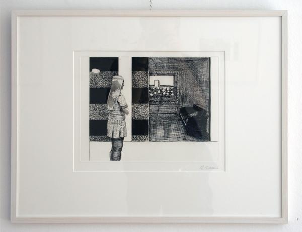 Roger Raveel - Betje in Atelier - Ets