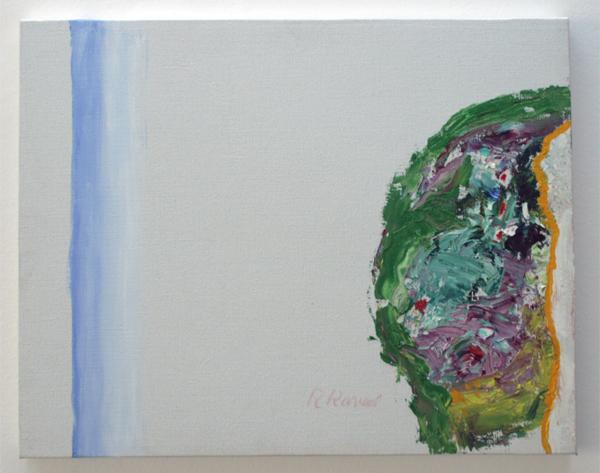 Roger Raveel - Een struikgebeuren - 41x51 Olieverf op doek