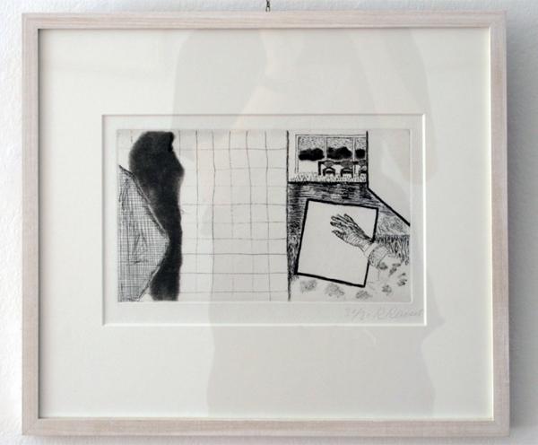 Roger Raveel - Interieur en slagschaduw - Ets