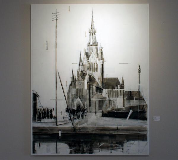 Wessel Huisman - On a primising but still hazy morning-June 1965 - 180x140cm Acrylverf op linnen