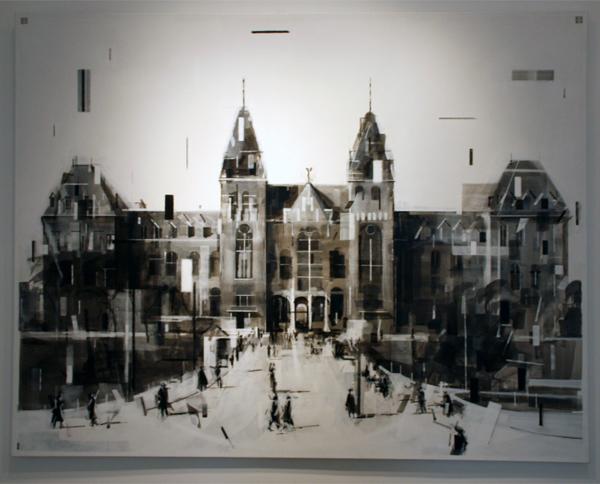 Wessel Huisman - Pavanne Beginning of May 1972 - 140x180cm Acrylverf op linnen