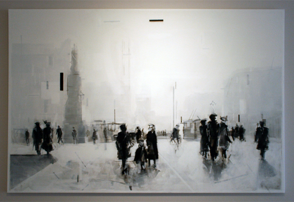 Wessel Huisman - Winter 1963 - 120x180cm Acrylverf op linnen