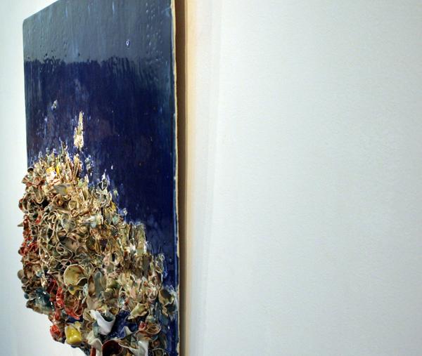 Zhuang Hong Yi - Zonder Titel - 80x80cm Porselein met pigmenten (detail)