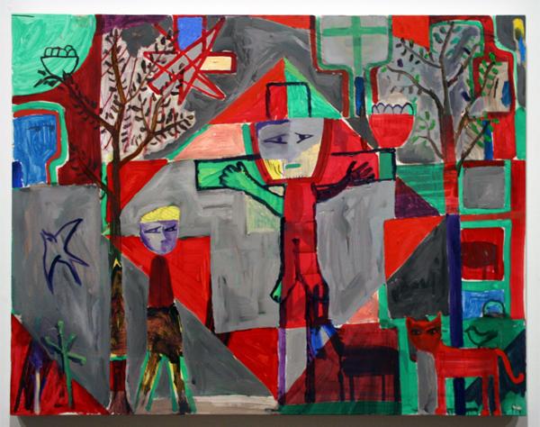 Derk Thijs (1977) - Inervision - Acrylverf en olieverf op multiplex