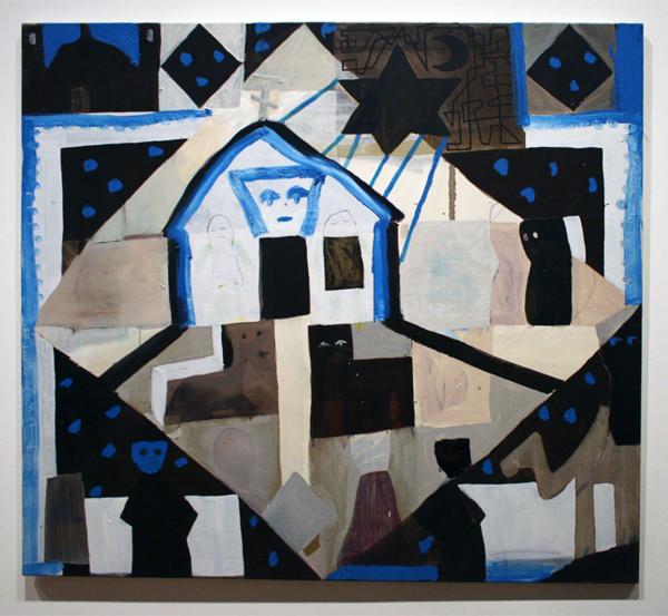 Derk Thijs (1977) - Zonder Titel - Acrylverf en olieverf op doek