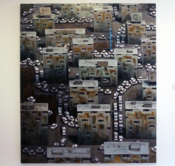 Elmer de Gruijl - Automotive IV - Acrylverf op canvas 160x190cm