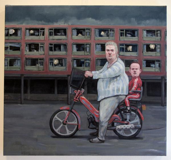 Elmer de Gruijl - Gekke Sjoerd - 70x65cm Acrylverf op canvas