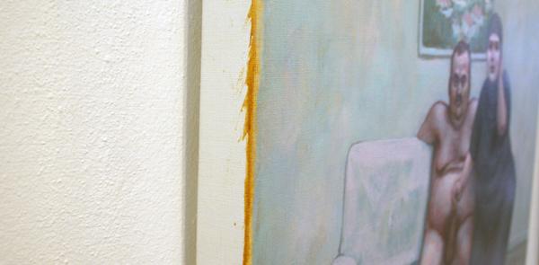 Elmer de Gruijl - Saat Kulesi - 60x65cm Acrylverf op canvas (detail)