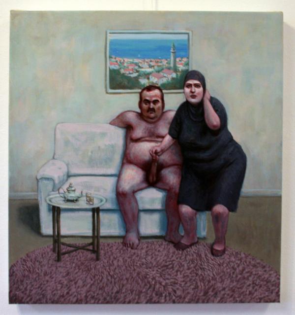 Elmer de Gruijl - Saat Kulesi - 60x65cm Acrylverf op canvas