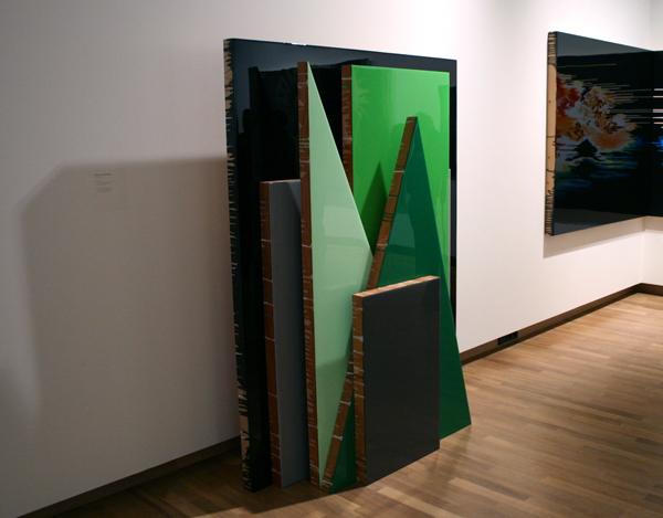 Esther Tielemans (1976) - Zonder titel & The End of The End - Acrylverf en epoxy op paneel