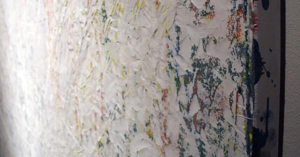 Gijs van Lith - A New Beginning - 200x160cm Olieverf, acrylverf, alkydverf en spuitbus op canvas (detail)