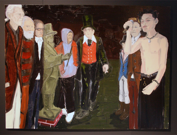 Jan Wattjes - Artistic Family (Sebastian Horsley, The Phoney) - 165x220cm Olieverf op doek