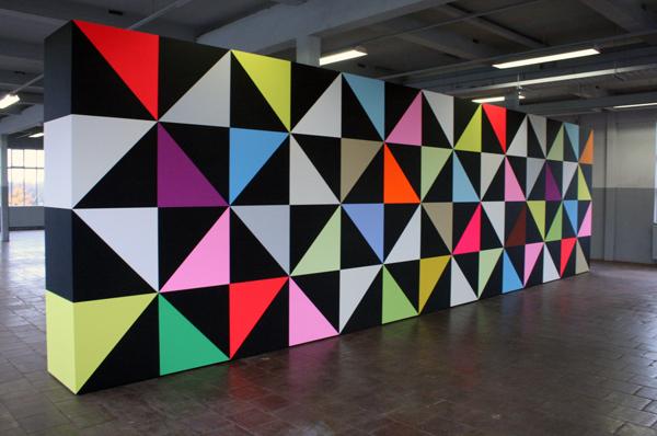 Jan van der Ploeg - Wonderwall - 300x1050x75cm Acrylverf op MDF