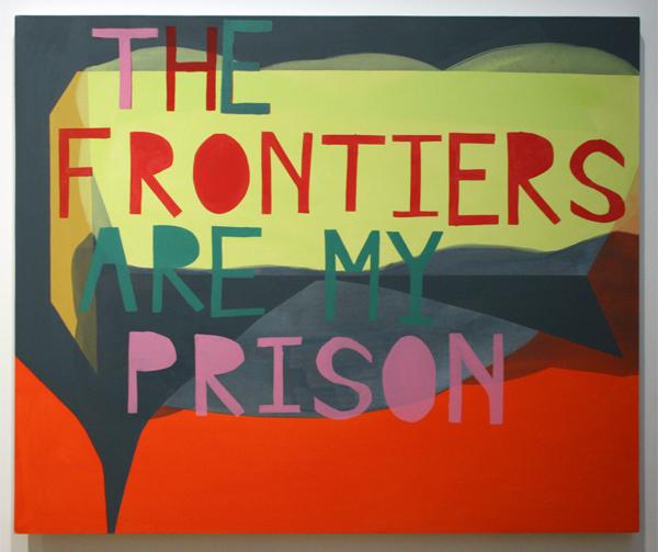 Kim van Norren (1980) - The Frontiers are my prison - Acrylverf op doek