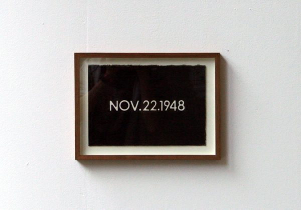 Marcel van Eeden - Zonder Titel - On Kawara - Data painting May 26 1994