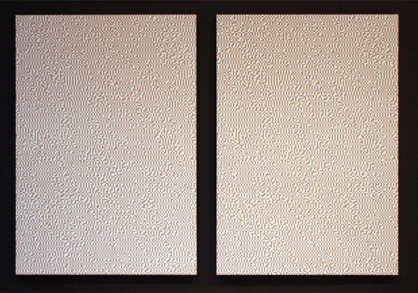 Navid Nuur - The Study 516 (The Eye Codex Of The Monochrome) - 115x80cm Gesso op linnen