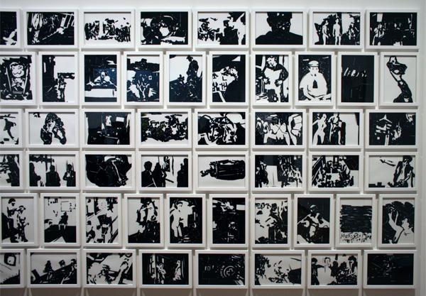 Thomas Raat (1979) - BW - Plastic op papier