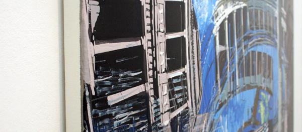 Yujin Kang - Palacio de Carlos V, Alhambra - 97x130cm Enamel en acrylverf op canvas (detail)