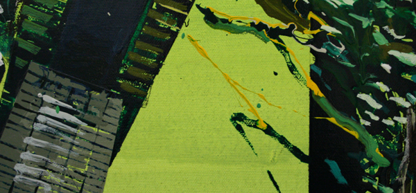 Yujin Kang - Way to the Stubai - 97x145cm Enamel en acrylverf op canvas (detail)
