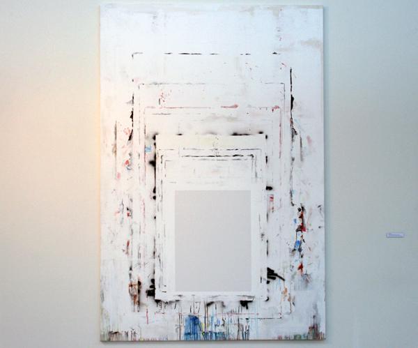 Gijs van Lith - A Painting's Womb; Black Canvas #2 - Olieverf, acryllak, acrylverf, alkydverf en spuitlak op canvas