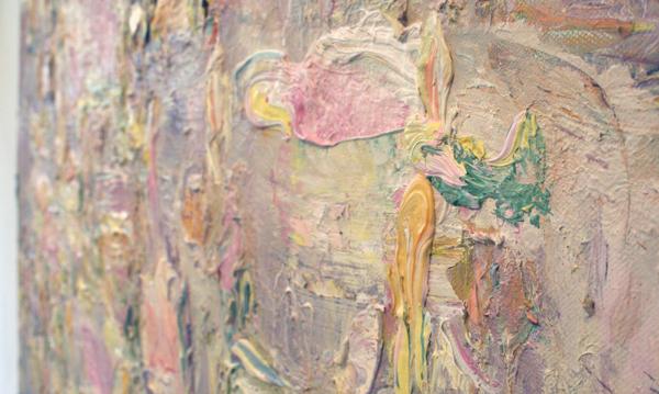 Marc Mulders - Bloemenweide - 140x140cm Olieverf op doek (detail)