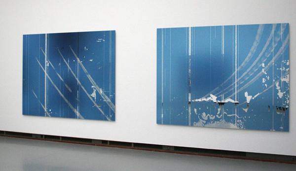 Marijke van Warmerdam - Traces - Zeefdruk op spiegel op dibond