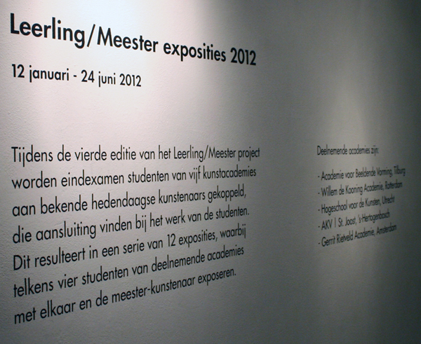 Kunstpodium T Leerling/Meester 2012