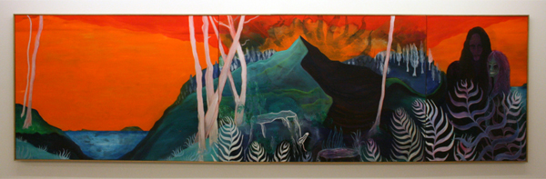 Marie Aly - Island in the Sun - 120x435cm Olieverf op canvas