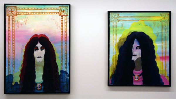 Marie Aly - Metaller I & II - 65x90cm & 62x76cm Olieverf op canvas