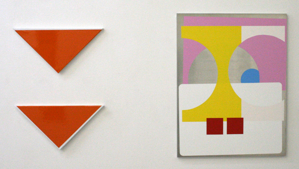 Joachim Grommek - Untitled & Sonderposten - 65x50cm Lak op aluminium & 20x40cm lak op linnen