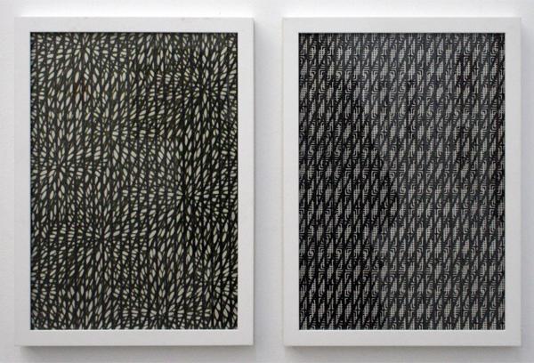 Koen Taselaar - Patternpattern nr 2 & 7 - 30x21cm Grafiet op papier