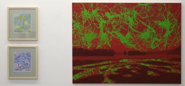 Peter Verhaar - Painted Sky & 32 Near Dredsen IV - 21x18cm Acrylverf op papier & 90x120cm Acrylverf op canvas