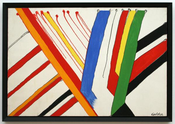 Alexander Calder - De groene streep - Olieverf op canvas