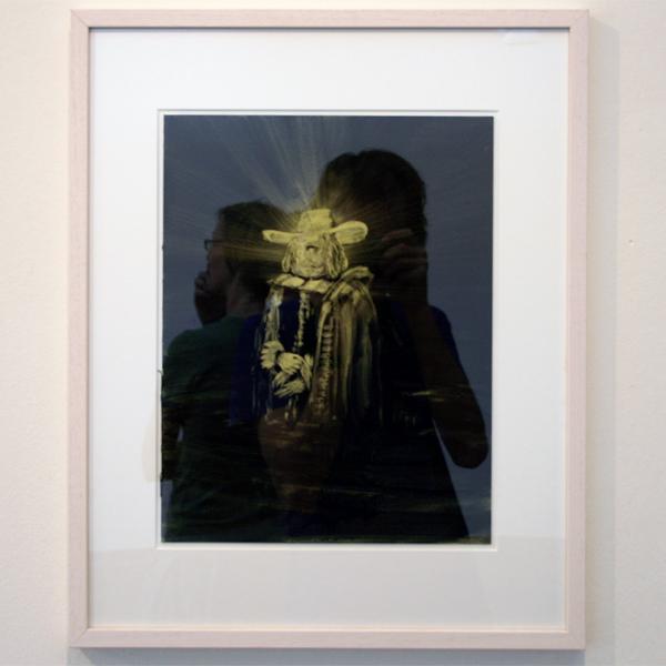 Joncquil - Met de verlichting komen vreemde inzichten - 50x40cm Olieverf en acrylverf op papier