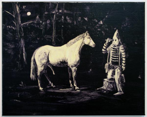 Joncquil - The Object Stares Back - 50x40cm Olieverf en acrylverf op linnen