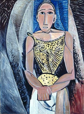 Mike Bidlo - Not Picasso (Woman in Yellow) - Olieverf op linnen 130x97cm