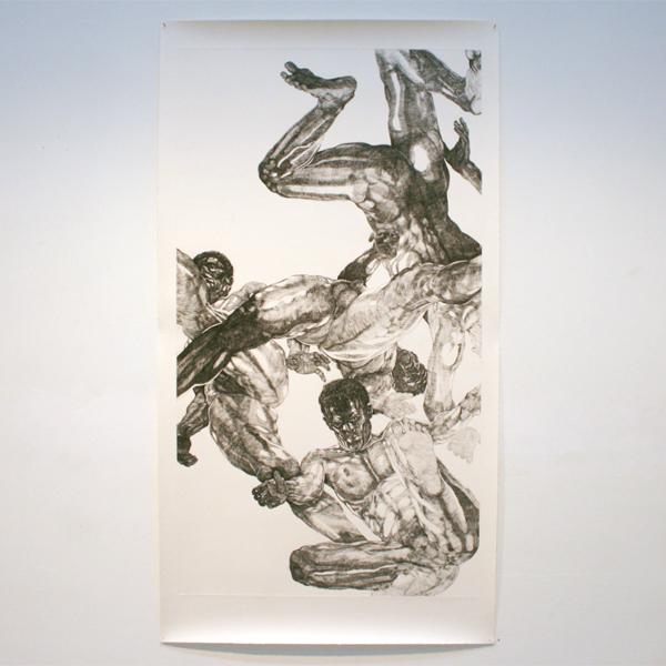 Paul van Dongen - Plafondets 1 - 180x100cm Ets