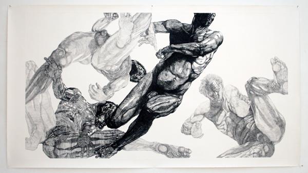 Paul van Dongen - Plafondets - 100x180cm Ets