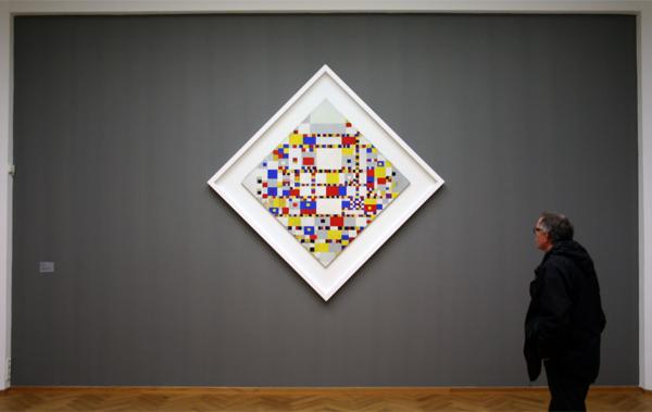 Piet Mondriaan - Victory Boogie Woogie - Plakband, olieverf, papier op doek